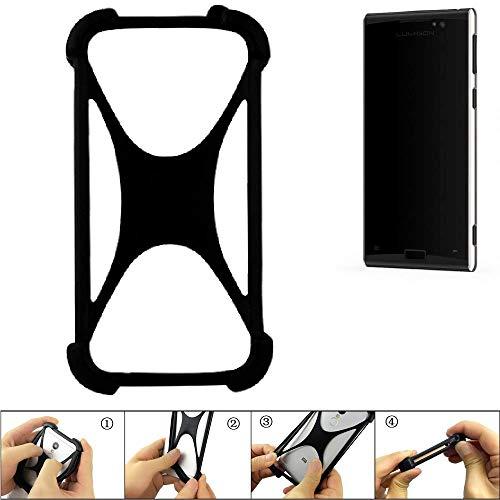K-S-Trade Handyhülle Lumigon T3 Silikon Schutz Hülle Cover Case Bumper Silikoncase TPU Softcase Schutzhülle Smartphone Stoßschutz, schwarz (1x)