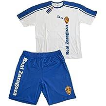 Real Zaragoza Pijzar Pijama Corta, Azul/Blanco, 06