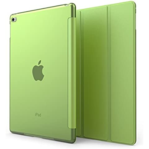 KHOMO Funda iPad Air 2 - Carcasa Verde Semi Transparente Ultra Delgada y Ligéra con Smart Cover para Apple iPad Air 2 - Clear Green