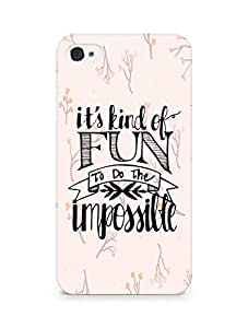 AMEZ its kind of fun to do the impossible Back Cover For Apple iPhone 4s