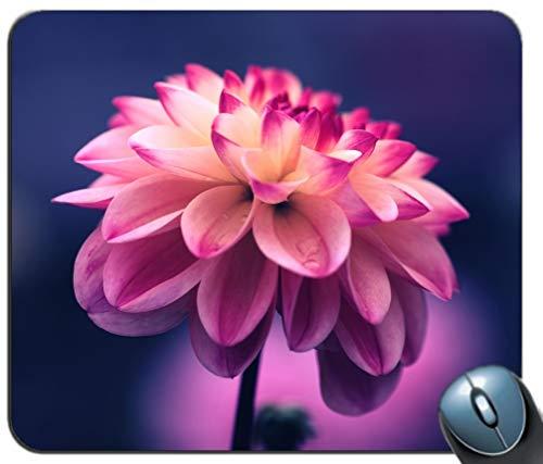 Mauspad Gaming-Mauspad Wasserdichtes Mauspad Extrem dickes, seidiges, glattes, genähtes Kantenmuster mit rosa Blütenblättern