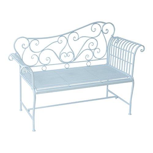 Outsunny Gartenbank Parkbank Sitzbank Bank Gartenmöbel 2-Sitzer Metall (Modell 4)