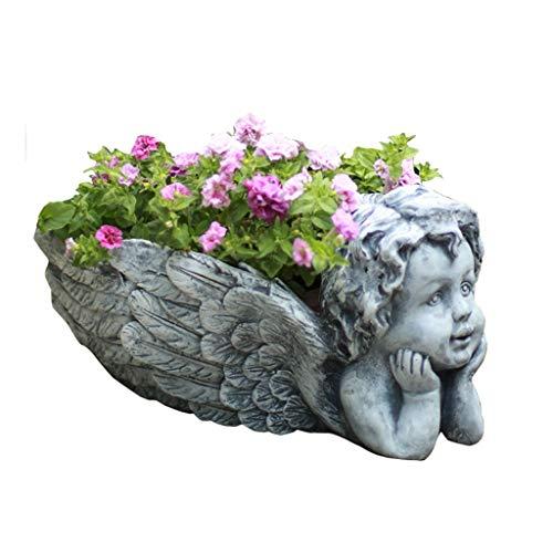 Decorazioni per il giardino Cartelli da Giardino Decorazione del Fiore di Angelo Decorazione Regalo del Vaso di Giardino