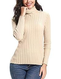 Abollria Suéter Elegante para Mujer Manga Larga 4e6a0e71c17f