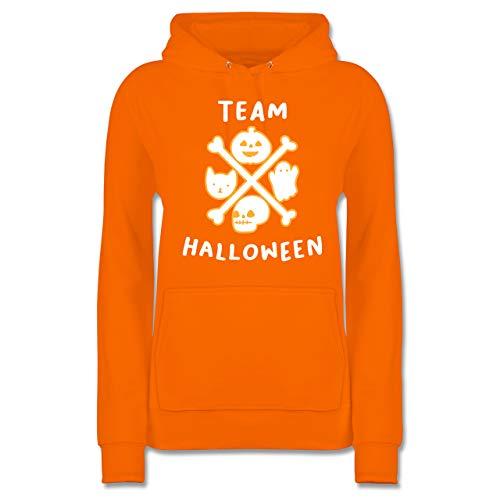 Shirtracer Halloween - Team Halloween - L - Orange - JH001F - Damen Hoodie