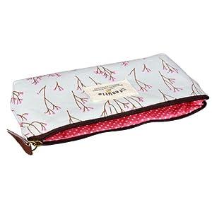 HONEARN Lot de 4 Sac Pochette De Crayon Trousses en Tissu Canevas Maquillage Pen Rangement Case Cosmétique Zipper Couleurs Variées Pastorable