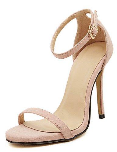 WSS 2016 Chaussures Femme-Décontracté-Noir / Rouge / Blanc / Or / Nu-Talon Aiguille-Talons-Talons-Polyuréthane red-us7.5 / eu38 / uk5.5 / cn38
