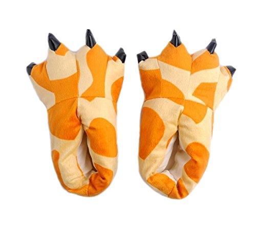 Erwachsene Für Kostüme Hirsch (LANFIRE Unisex Soft Plüsch Haus Hausschuhe Tier Kostüm Pfote Claw Schuhe (L (EUR 40-45),)