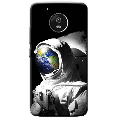Astronautenanzug & Spiegelbild der Erde Hartschalenhülle Telefonhülle zum Aufstecken für Motorola Moto G5