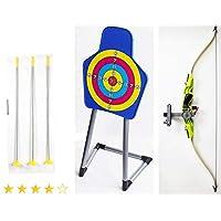 Izzy Kinder-Bogen mit Zielscheibe und 3 Saugnapfpfeilen, Bogenschiessen Kinder