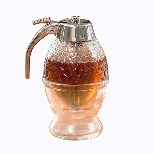 asentechuk® Honigspender,Sirup Dispenser Bee Drip Flasche Jar, Acryl Aufbewahrung Topf 200 ml /8-Unzen - 8 Unzen Sirup