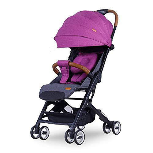 ALIFE Kinderwagen Licht Falten Zurücklehnen Können Sitzen Stoßdämpfer Kinderwagen Ultra Regenschirm Auto Baby Spielzeug Schlaf,Purple