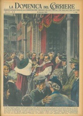 Il solenne ingresso a Milano del nuovo Arcivescovo Mons. Montini, fa la sua prima sosta in citta' alla millenaria Basilica di Sant'Eustorgio.