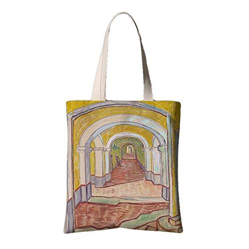 fonxoy-Storage bag Strandtasche/Einkaufstasche/Freizeittaschevintage Canvas Canvas Tasche (35 * 40 * 28 cm) Promenade