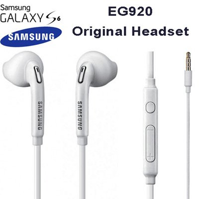 SAMSUNG EO-EG920BW 3.5 mm Jack In Ear Handsfree Stereo Headphones with Remote and Microphone - White