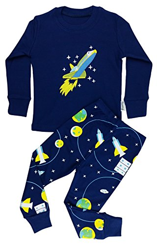 Floorey Boys Pyjamas Space Rocket 2 Pieces Pajamas set 100% Cotton (12-18 Month)