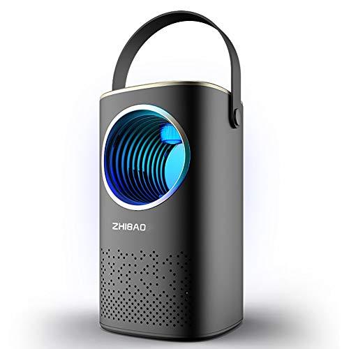 HECHEN Haushalt intelligente Insektenvernichter, Moskito Lampe USB-Aufladung nach Hause stumm Photokatalysator Inhalation Mückenschutz 2000mAH Mückenvernichter,Black