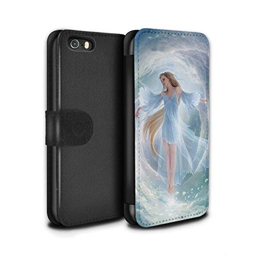 Officiel Elena Dudina Coque/Etui/Housse Cuir PU Case/Cover pour Apple iPhone SE / Pack 5pcs Design / Fantaisie Ange Collection Robe Air