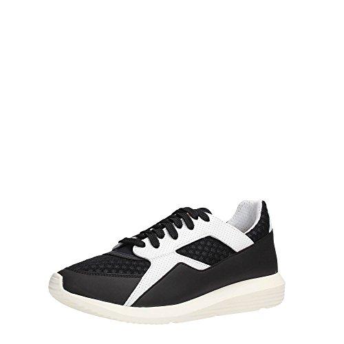 Bikkembergs Bke107982 Sneakers Uomo Tessuto Noir / Blanc Noir / Blanc