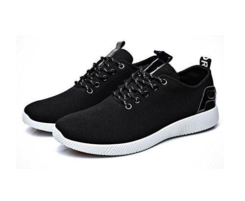 Sommer neue Kokosnuss schuhe Männer bequeme im Freien beiläufige Schuhe koreanische Art und Weise Breathable Ineinander greifen-Schuhe Black