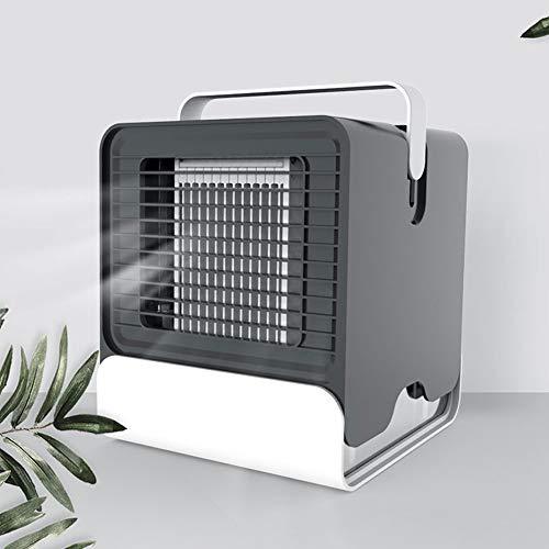 �fter Luftkühler Negativ-Ionen-Klimaanlagenlüfter Schlafsaal USB Kleiner Kaltlüfter Energiesparend Black ()