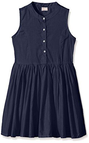 NAME IT Mädchen Kleid Nitgira K Spencer WL 216, Blau (Dress Blues), 134 (Rock Ungefüttert Falten)
