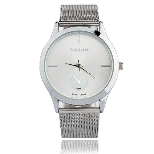 Vovotrade Aleación de reloj de la correa unisex de estilo minimalista reloj de cuarzo (D)