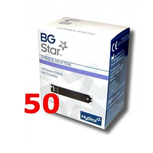 IBGSTAR - 50 Tiras Reactivos per il Control de Glucemia - BG ESTRELLA MYSTAR