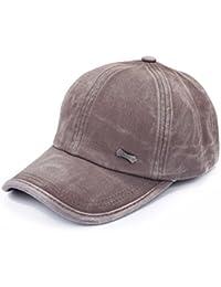 1af8a707c2c Sunbo Vintage Adjustable Cotton Snapback Men Baseball Cap Solid Hat