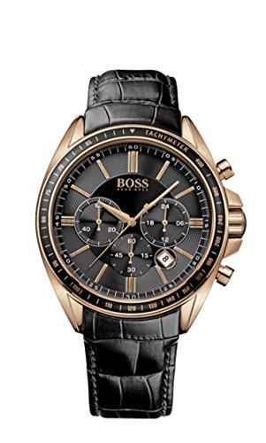 Hugo Boss Herren-Armbanduhr Chronograph Quarz Leder 1513092