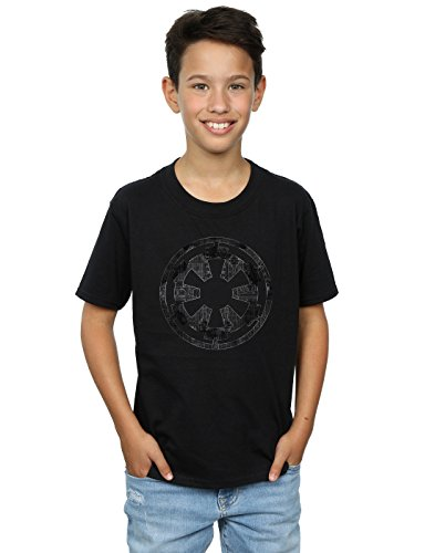 Star Wars Jungen Rogue One Galactice Empire Plans T-Shirt 12-13 years Schwarz