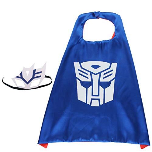 HS-ZM-06 Cape Umhang Halloween-Umhang Mit Maske Für Kindergeburtstag Partyzubehör Party Teen Kostüm Anzieh Mädchen Junge Cosplay - Blau Tutu M&m Teen Kostüm