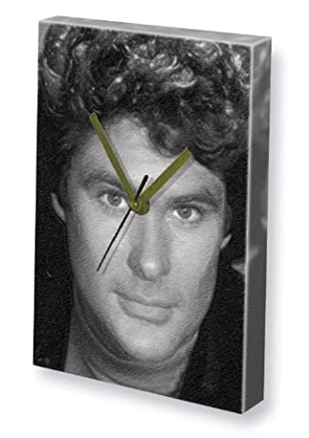 DAVID HASSELHOFF - Canvas Clock (A5 - Signed by the Artist) #js002
