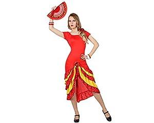Atosa- Disfraz flamenca, Color amarillo, M-L (4991)