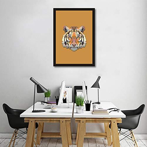 erei Kreative Geometrie Tiere Portrait Tiger Kopf Modernen Familie Wand Kunst Dekoration Gemälde,NoFrame,21x30cm ()