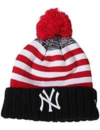 Bonnet New Era Snowfall Strip NY Noir / Rouge