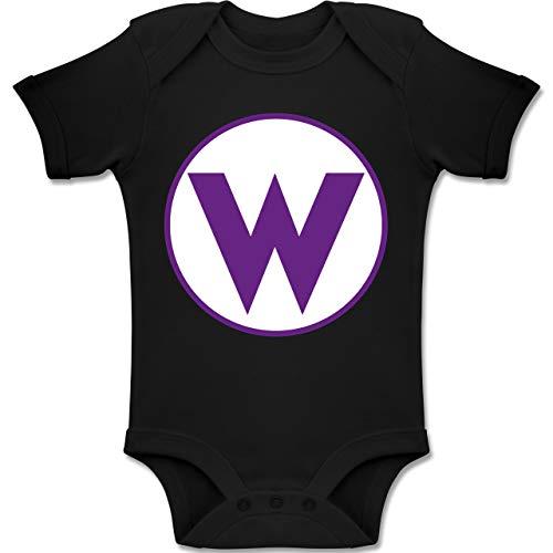 Shirtracer Karneval und Fasching Baby - W Spiel Kostüm - 1-3 Monate - Schwarz - BZ10 - Baby Body Kurzarm Jungen ()