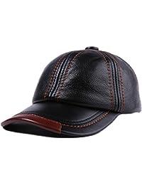 36e10c17bf1cd5 June's Young Herren Basecap Herren Leder Basecap Baseball Kappe  Baseballkappe Herren Baseball Cap, Braun,