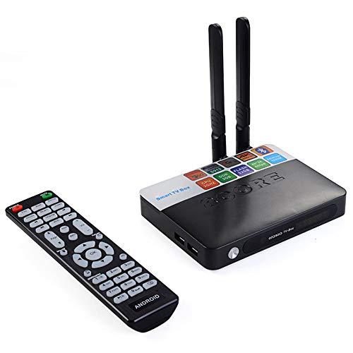 Smart-TV-Box, Android 8.1 TV-Box RAM 2 GB ROM 16 GB 2,4 GHz & 5,8 GHz Dual WiFi BT4.0 H.265 4K Media Player