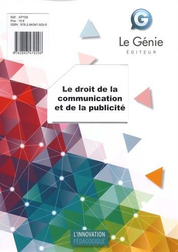 Le droit de la communication et de la publicité