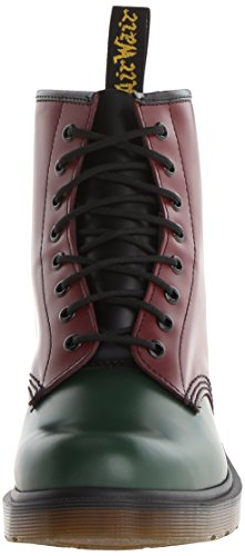 Dr. Martens 1460 Smooth, Bottes Rangers Mixte Adulte Bordeaux/Verde