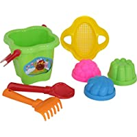 Polesie 2136 21 Sieve Shovel No. 2 Rake No. 2 3 Forms -Sets: Flower Bucket, Medium, Multi Colour