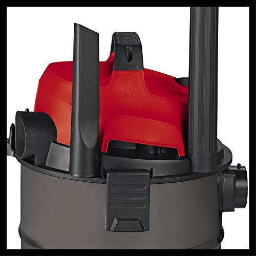 Einhell Nass Trockensauger TH-VC 1815 (1250 W, 180 mbar, 15 l, Kunststoffbehälter, 1,5 m Saugschlauch, umfangreiches Zubehör) - 4