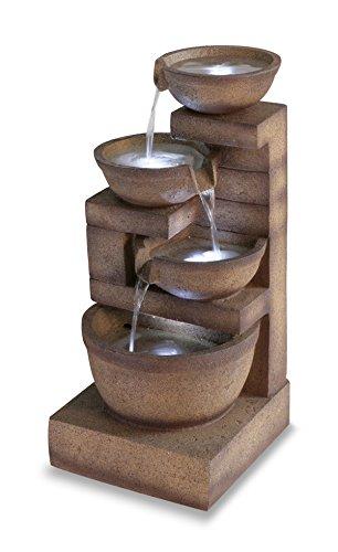 Kendal tre livelli da giardino per fontana con luci