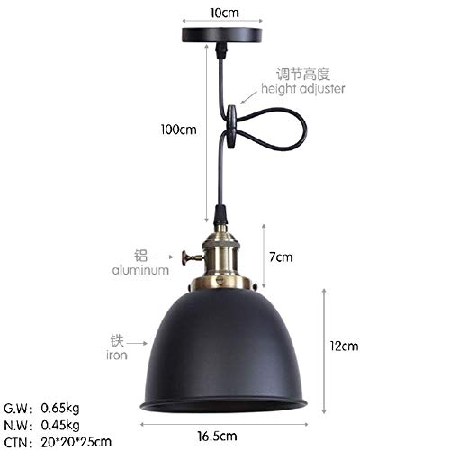 Simple Post-Modern Warm with Switch Bedroom Tea Shop Clothing Store Art Gallery Creative Single Head Color Chandelier Night Light - sub-Black with LED Light Source