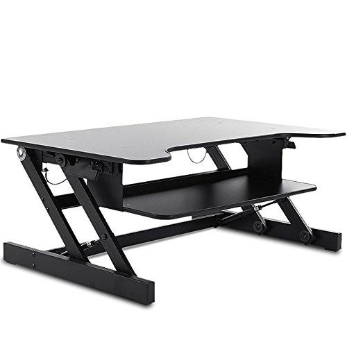 AJZXHE Table d'ordinateur stand-up, table élévatrice, bureau réglable, table mobile, table pliante, Bureau simple (Couleur : Noir, taille : 81cm)