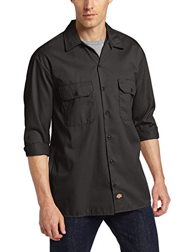 Dickies Herren Freizeithemd Long/S Work Shirt, Schwarz (Black Bk), XL (Shirt Work Classic)