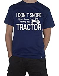 My Cup Of Tee Tractor T-Shirt - I Dont Snore, I Just Dream Driving My. Farmer Farming Tshirt
