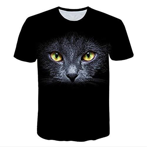 3D Print Weste Herren Tank Top Fitness Ärmelloses Shirt Herren Bekleidung Sportswear Unterhemd Sommer,Schwarze Katze schwarz 4XL
