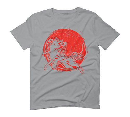 Red Sun Wolf Men's Graphic T-Shirt - Design By Humans Opal